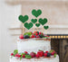 Heart Mixed Sized Cake Topper Set of 7 Cake Topper Glitter Card Green