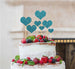 Heart Mixed Sized Cake Topper Set of 7 Cake Topper Glitter Card Light Blue