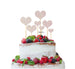 Heart Mixed Sized Cake Topper Set of 7 Cake Topper Glitter Card White