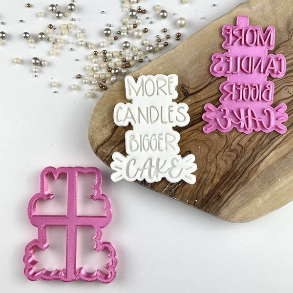 Swirls and Curls More Candles Bigger Cake Cookie Cutter and Stamp