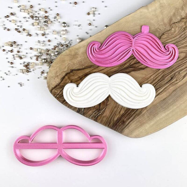 Moustache with Lines Father's Day Cookie Cutter and Stamp