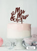 Mrs and Mrs Pretty Same Sex Wedding Cake Topper Premium 3mm Acrylic Maroon