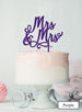 Mrs and Mrs Pretty Same Sex Wedding Cake Topper Premium 3mm Acrylic Purple