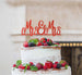 Mrs and Mrs Line Same Sex Wedding Cake Topper Glitter Card Red