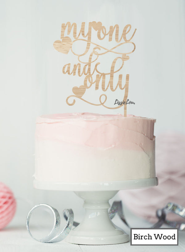 My One and Only Cake Topper Premium 3mm Birch Wood
