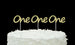 Number One Cupcake Toppers - 1st Birthday - Glitter Silver - Pack of 10