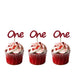Number One Cupcake Toppers - Glittery Gold - Pack of 10