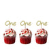 Number One Cupcake Toppers - Glittery Silver - Pack of 10
