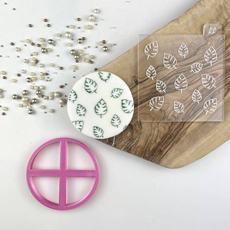 Palm Leaf Jungle Texture Tile Cookie Cutter and Embosser