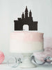 Princess Castle Birthday Cake Topper Glitter Card Black