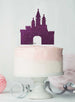 Princess Castle Birthday Cake Topper Glitter Card Dark Purple