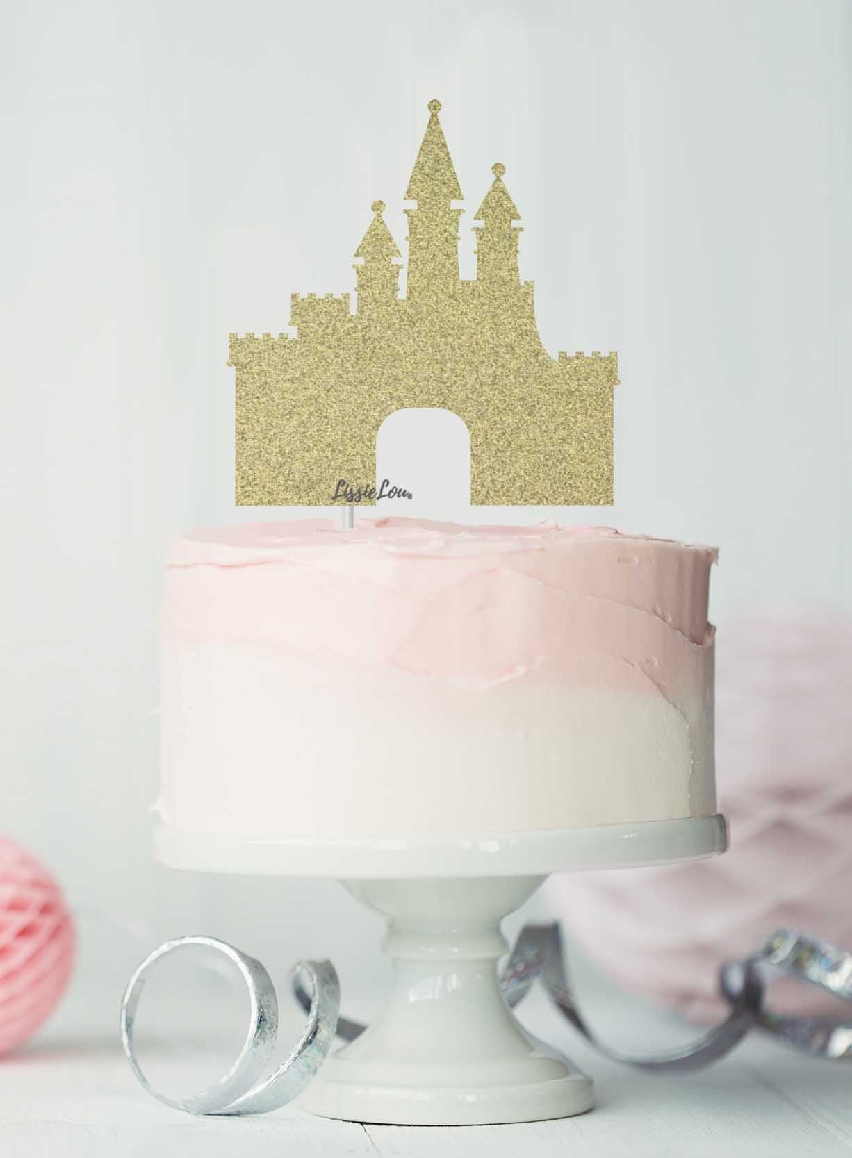 Miraculous Princess Castle Birthday Cake Topper Glitter Card Lissielou Personalised Birthday Cards Cominlily Jamesorg