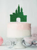 Princess Castle Birthday Cake Topper Glitter Card Green