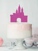 Princess Castle Birthday Cake Topper Glitter Card Hot Pink