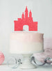 Princess Castle Birthday Cake Topper Glitter Card Light Pink
