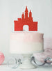 Princess Castle Birthday Cake Topper Glitter Card Red
