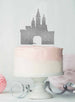 Princess Castle Birthday Cake Topper Glitter Card Silver