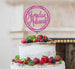 Ramadan Mubarak Circle Cake Topper Hot Pink