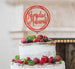 Ramadan Mubarak Circle Cake Topper Red