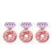 Ring Glitter Cupcake or Donut Toppers Light Purple