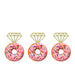 Ring Glitter Cupcake or Donut Toppers Gold