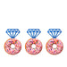Ring Glitter Cupcake or Donut Toppers Dark Blue