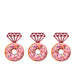 Ring Glitter Cupcake or Donut Toppers Dark Pink
