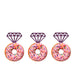 Ring Glitter Cupcake or Donut Toppers Dark Purple