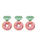 Ring Glitter Cupcake or Donut Toppers Green