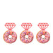 Ring Glitter Cupcake or Donut Toppers Light Pink