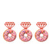 Ring Glitter Cupcake or Donut Toppers Red
