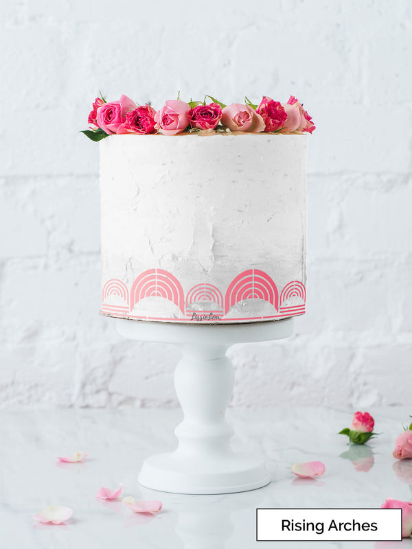 Rising Arches Cake Stencil - Border Design