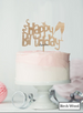 Happy Birthday Fun with Champagne Glasses Cake Topper Premium 3mm Birch Wood