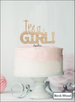 It's A Girl Baby Shower Cake Topper Premium 3mm Acrylic