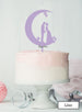 Moon and Star Silhouette Couple Wedding Cake Topper Premium 3mm Acrylic Lilac