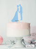 Silhouette Couple Wedding Cake Topper Premium 3mm Acrylic Baby Blue