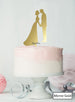 Silhouette Couple Wedding Cake Topper Premium 3mm Acrylic Mirror Gold