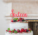 Sixteen Cake Topper Glitter Card Glitter Light Pink