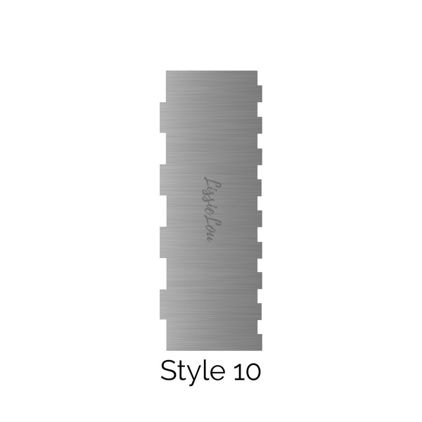 Style 10 Metal Double Edged Cake Scraper