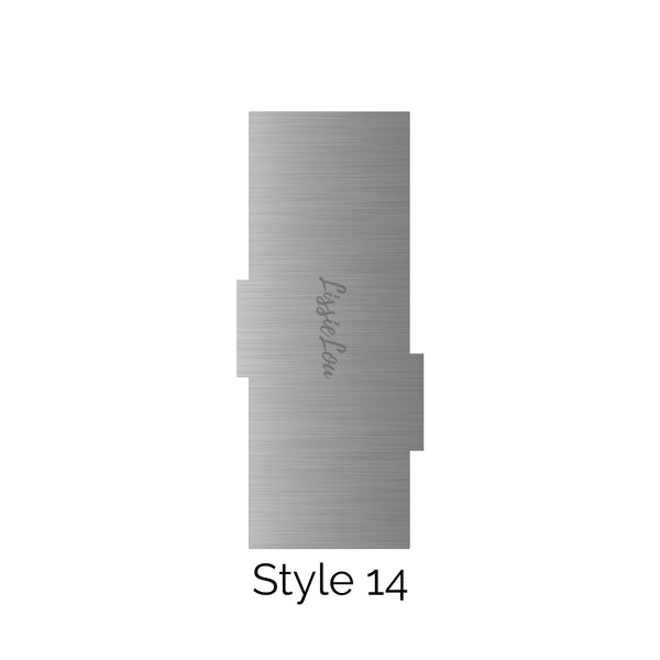 Style 14 Metal Double Edged Cake Scraper