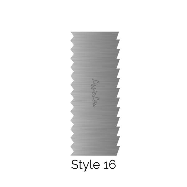 Style 16 Metal Double Edged Cake Scraper