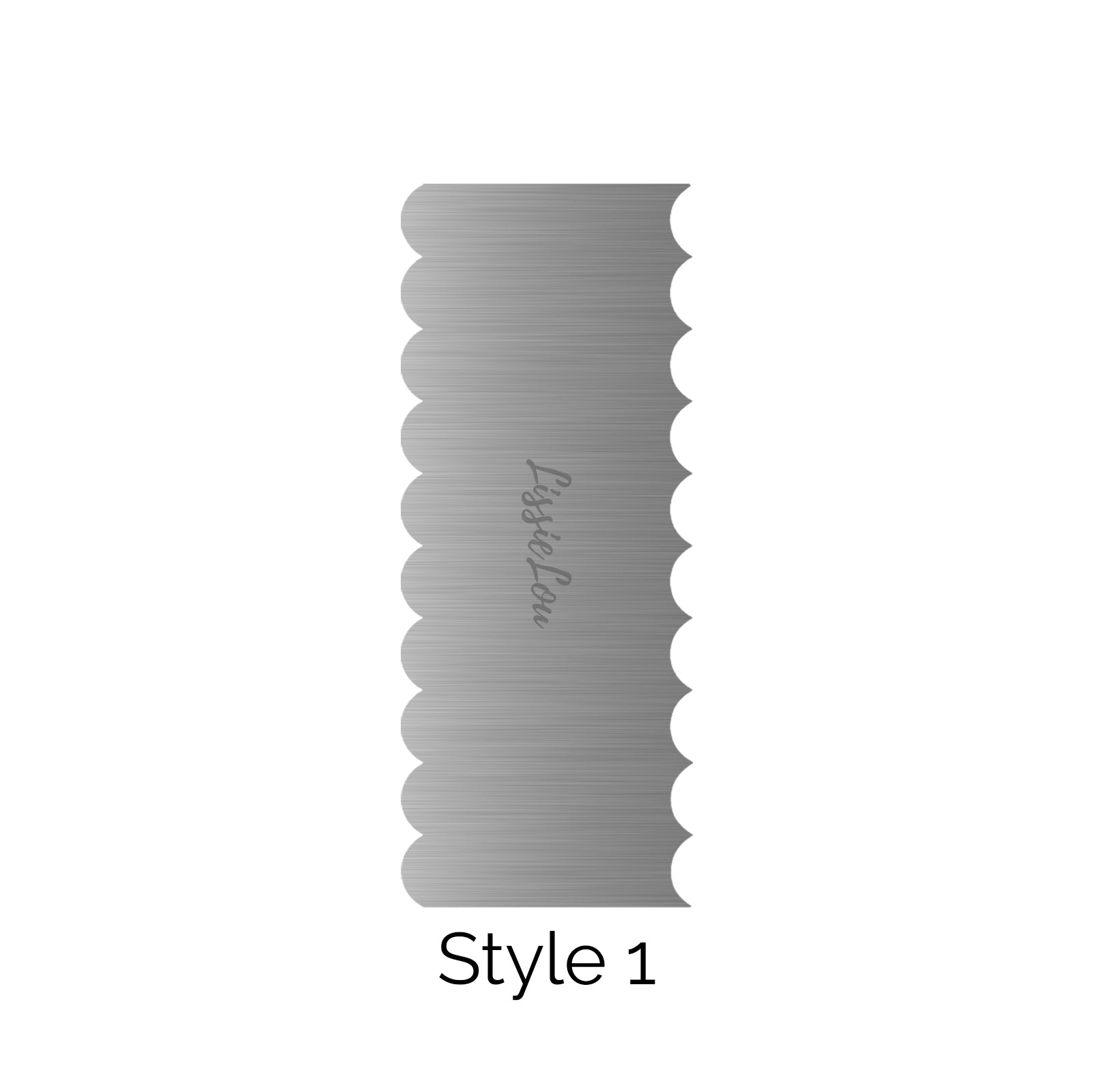 Style 1 Metal Double Edged Cake Scraper