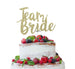 Team Bride Swirly Hen Party Cake Topper Glitter Card Gold