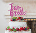 Team Bride Swirly Hen Party Cake Topper Glitter Card Hot Pink