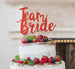 Team Bride Swirly Hen Party Cake Topper Glitter Card Red