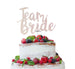 Team Bride Swirly Hen Party Cake Topper Glitter Card White