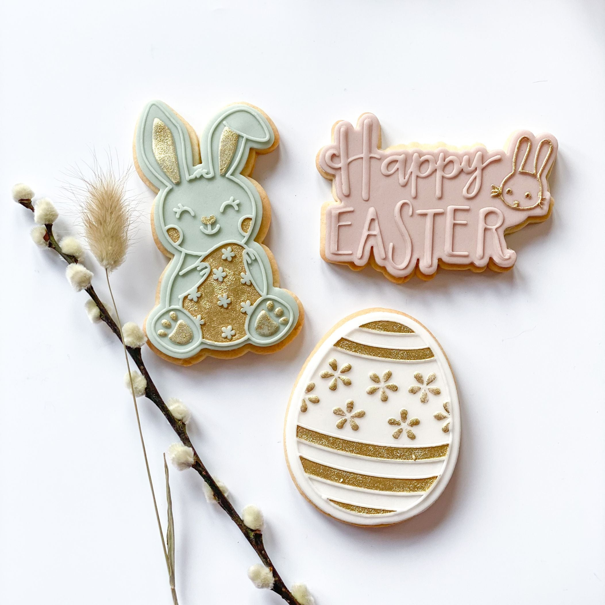 Happy Easter Style 2 with Rabbit Cookie Cutter and Embosser