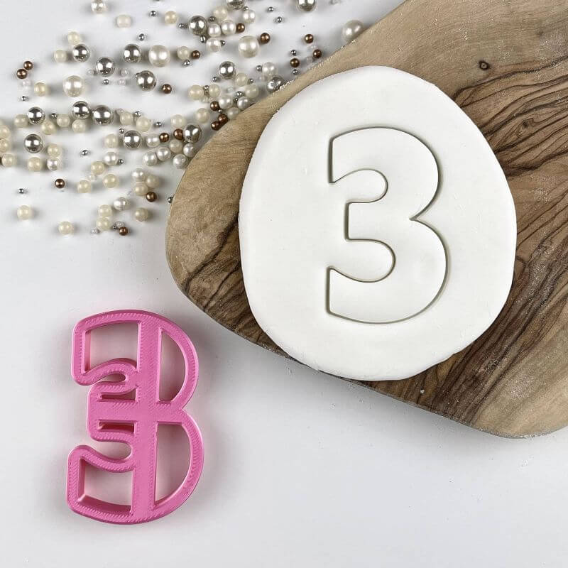 Number 0-9 (10cm) Cookie Cutter