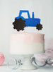 Tractor Cake Topper Glitter Card Dark Blue