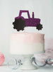 Tractor Cake Topper Glitter Card Dark Purple